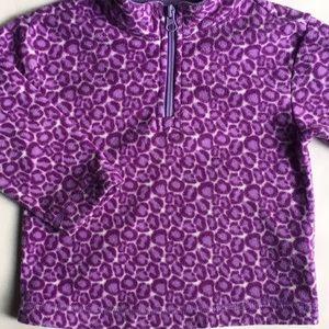 Hanna Andersson fleece size 80 2T purple leopard